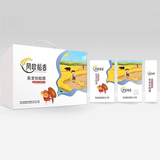 风吹稻香东北长粒香礼盒(1kg×5)